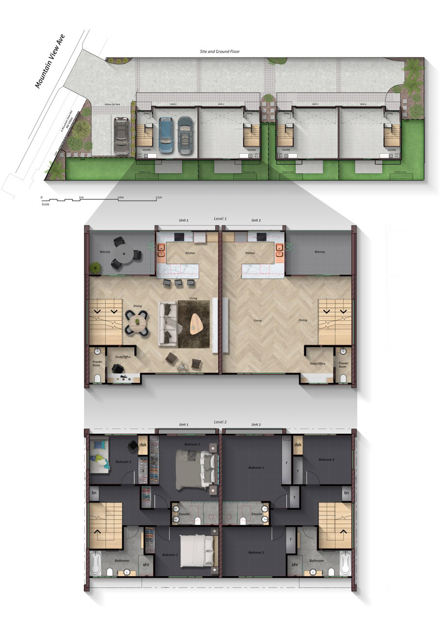 Floor Plan for Mountain View MV Villas, Gold Coast | SRPG